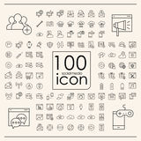 100 social media icons set Royalty Free Stock Images