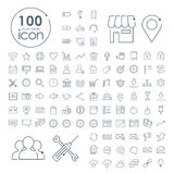 100 social media icons set. Over white background Royalty Free Stock Photography