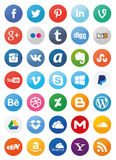 Social Media Icons (Set1). Also see sets of icons 2 and 3 of my portfolio Royalty Free Stock Photography