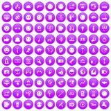 100 social media icons set purple. 100 social media icons set in purple circle isolated on white vector illustration vector illustration