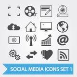 Social media icons set 1 Stock Image