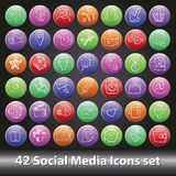 Social Media Icons set.Round volume button Stock Photos