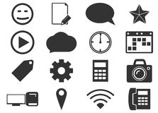Social media icons set Royalty Free Stock Photos