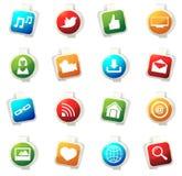 Social media icons set Stock Photography