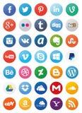 Social Media Icons (Set1) Royalty Free Stock Photography