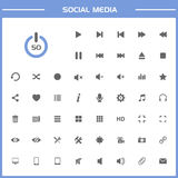 50 Social media icons on simple presentation Royalty Free Stock Image