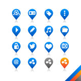 Social media icons  - Simplicity Series Royalty Free Stock Images