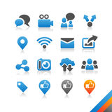 Social media icons  - Simplicity Series Royalty Free Stock Image