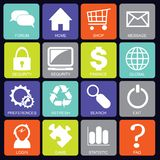 Social media icons square Stock Images