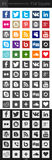 Social media icons - Square Royalty Free Stock Image