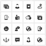 Social Media Icons. Social media vector icons. File format is EPS8 Royalty Free Stock Photography