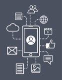 Social media icons. Vector set Royalty Free Stock Photography