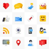 Social media icons. Royalty Free Stock Photo
