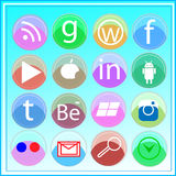 Social Media-Ikone Stock Abbildung
