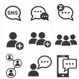 Social Media-Ikone Stockbild