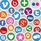 Social Media-Ikonen Lizenzfreies Stockfoto