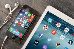 Social Media-Ikonen Lizenzfreies Stockbild