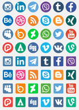 Social Media-Ikonen lizenzfreie abbildung