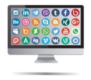 Social Media-Ikonen Stockfotos