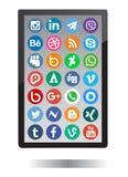 Social Media-Ikonen Stockfoto