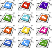 Social Media-Ikonen-gesetzter Vektor Lizenzfreies Stockbild