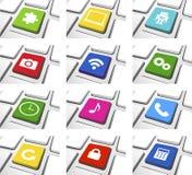 Social Media-Ikonen-gesetzter Vektor Stockbild