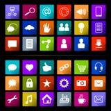 Social Media-Ikonen-Knopf flach Stockfotografie