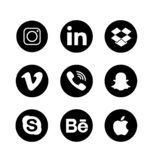 Social Media-Ikonen-Sammlungs-Satz vektor abbildung