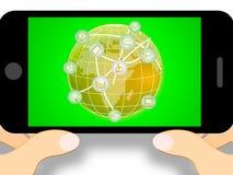 Social Media-Ikonen stellt on-line-Illustration der Beitrags-3d dar vektor abbildung