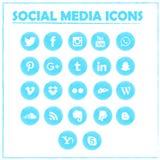 Social Media-Ikonen Vektorsymbole lizenzfreie stockfotografie