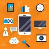 Social Media-Illustration Lizenzfreie Stockbilder