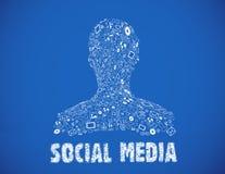 Social media illustration Royalty Free Stock Photos