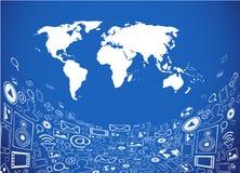 Social media illustration Stock Photo