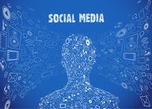 Social media illustration Stock Photos