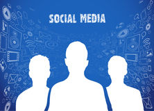 Social media illustration Royalty Free Stock Images