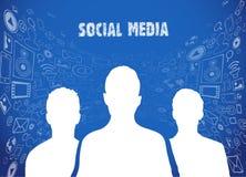 Social media illustration Royalty Free Stock Images