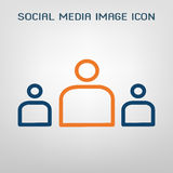 Social media image icon. Vector illustration.  Stock Photo