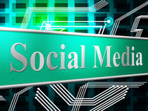 Social Media Indicates News Feed And Blogging. Social Media Meaning Online Forums And Posts Royalty Free Stock Images