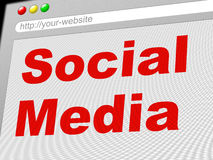 Social Media Indicates News Feed And Communicate Royalty Free Stock Photography