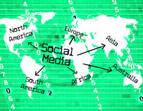 Social Media Indicates World Wide Web And Blogging. Social Media Representing World Wide Web And Website Royalty Free Stock Photos