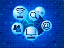 Social Media Indicates World Wide Web And Communicate Royalty Free Stock Photo