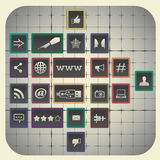 Social media infographic elements Royalty Free Stock Images