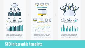 Social Media Infographic Elements. Royalty Free Stock Image