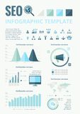Social Media Infographic Elements. Royalty Free Stock Images