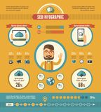 Social Media Infographic Elements Royalty Free Stock Photos