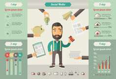 Social Media Infographic Elements Royalty Free Stock Photo
