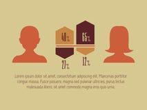 Social Media Infographic. Stock Image