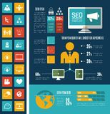 Social Media Infographic-Schablone Stockbild