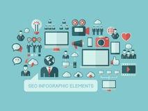 Social Media Infographic-Schablone Lizenzfreies Stockbild