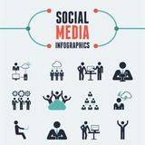 Social Media Infographic Template. Stock Photo